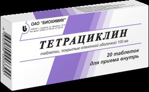 Препараты группы тетрациклина